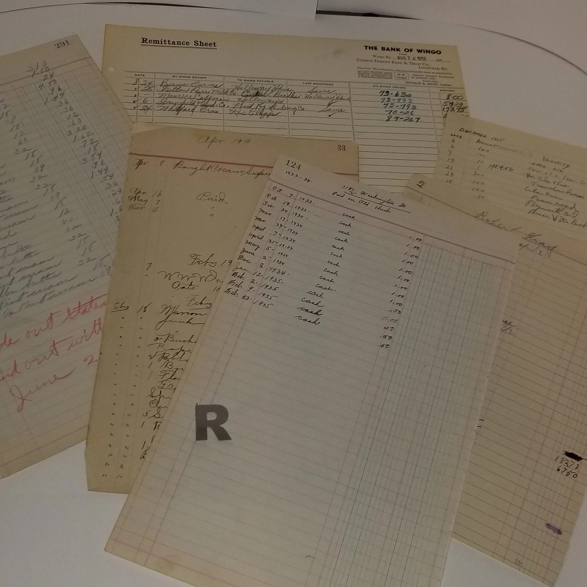 5 Ledger Sheets To S Book Pages Handwritten