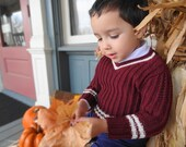 Boy sweater pattern - Toddler Sweater Pattern - PATTERN ONLY - Knit - Knitting Pattern - Sport Sweater - Jumper - Pullover