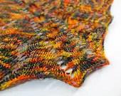 Red Dragon Shawl - Shawlette - Shawl - Knit Pattern - Knitting Pattern - PATTERN ONLY - Wrap Scarf