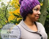 Knit Pattern - Hat - Beanie - Beanie with Pom - Winter - Fall Fall - Women's Fashion - All Ages
