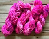 In Stock | Hand Dyed Yarn | Indie Dyed | Fingering Weight | Superwash Merino Wool | Speckled | Pink