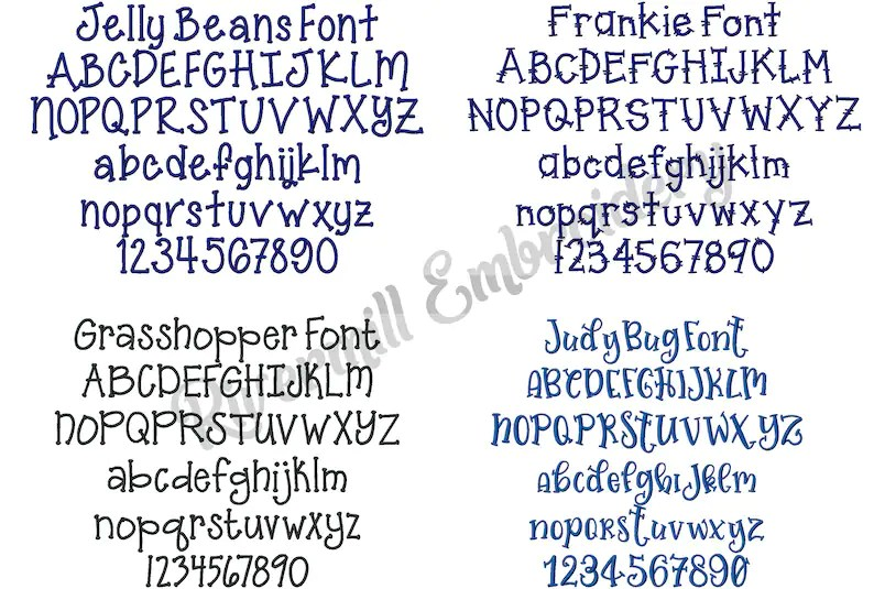 Download Kids Font Pack 2 10 Different Machine Embroidery Fonts 3 ...