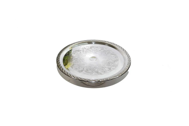 Silver Cake Plate Silver Cake Stand Silver Pedestal Cake
