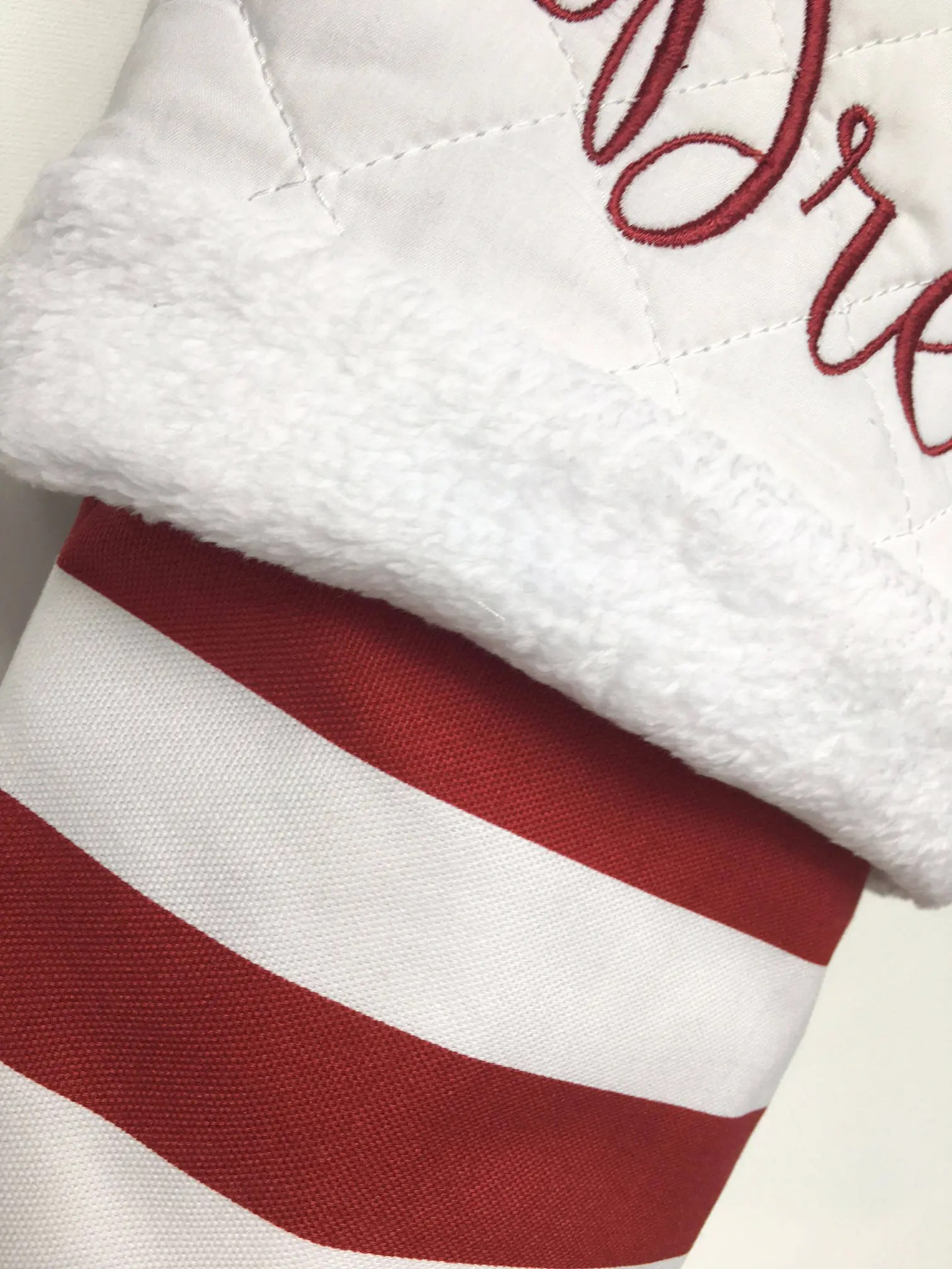 Red and White Stripes  Personalized Christmas Stockings  image 1