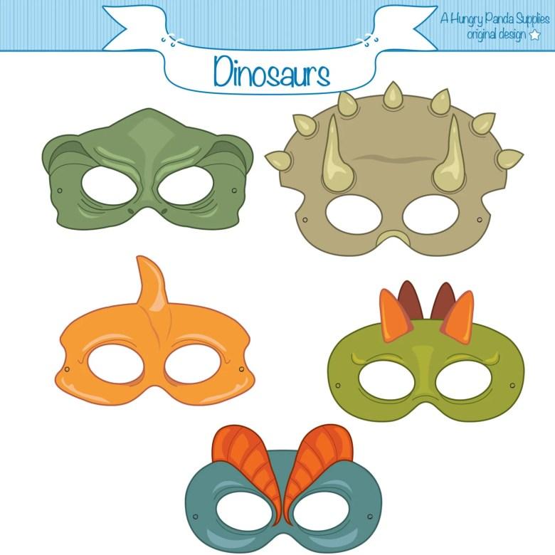 dinosaurs printable masks dinosaur mask trex mask | etsy