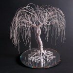 White Wedding Cake Topper When Two Become One Willow Tree Cake Topper