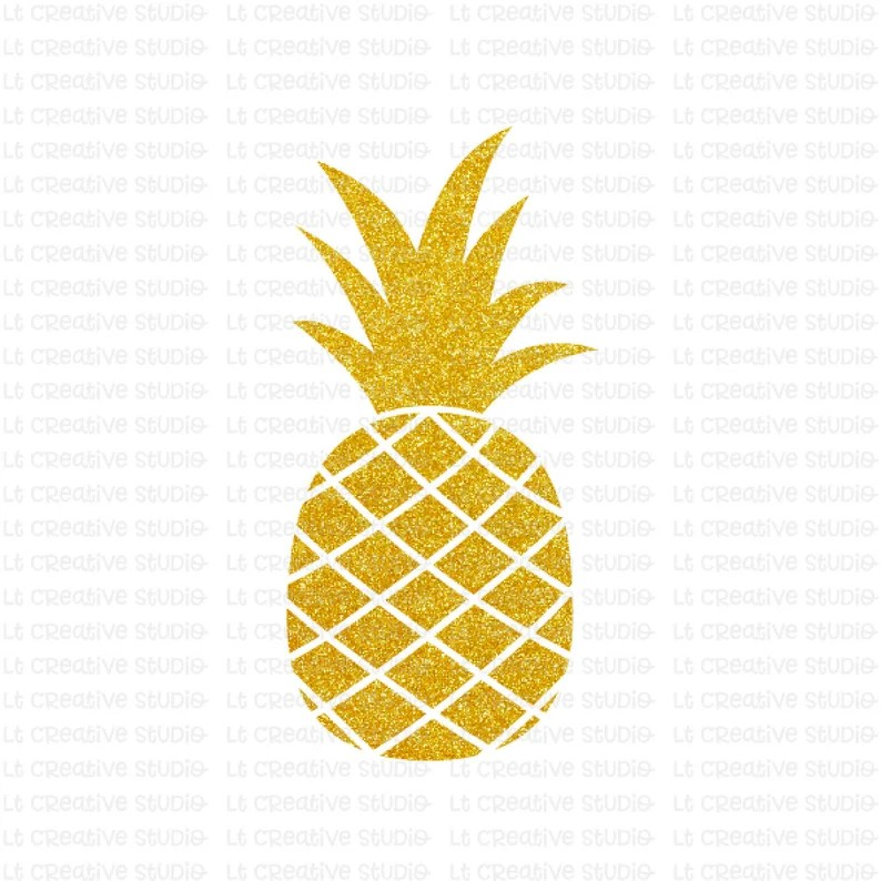 Download Pineapple SVG Glitter Pineapple Clipart SVG Files Cricut ...