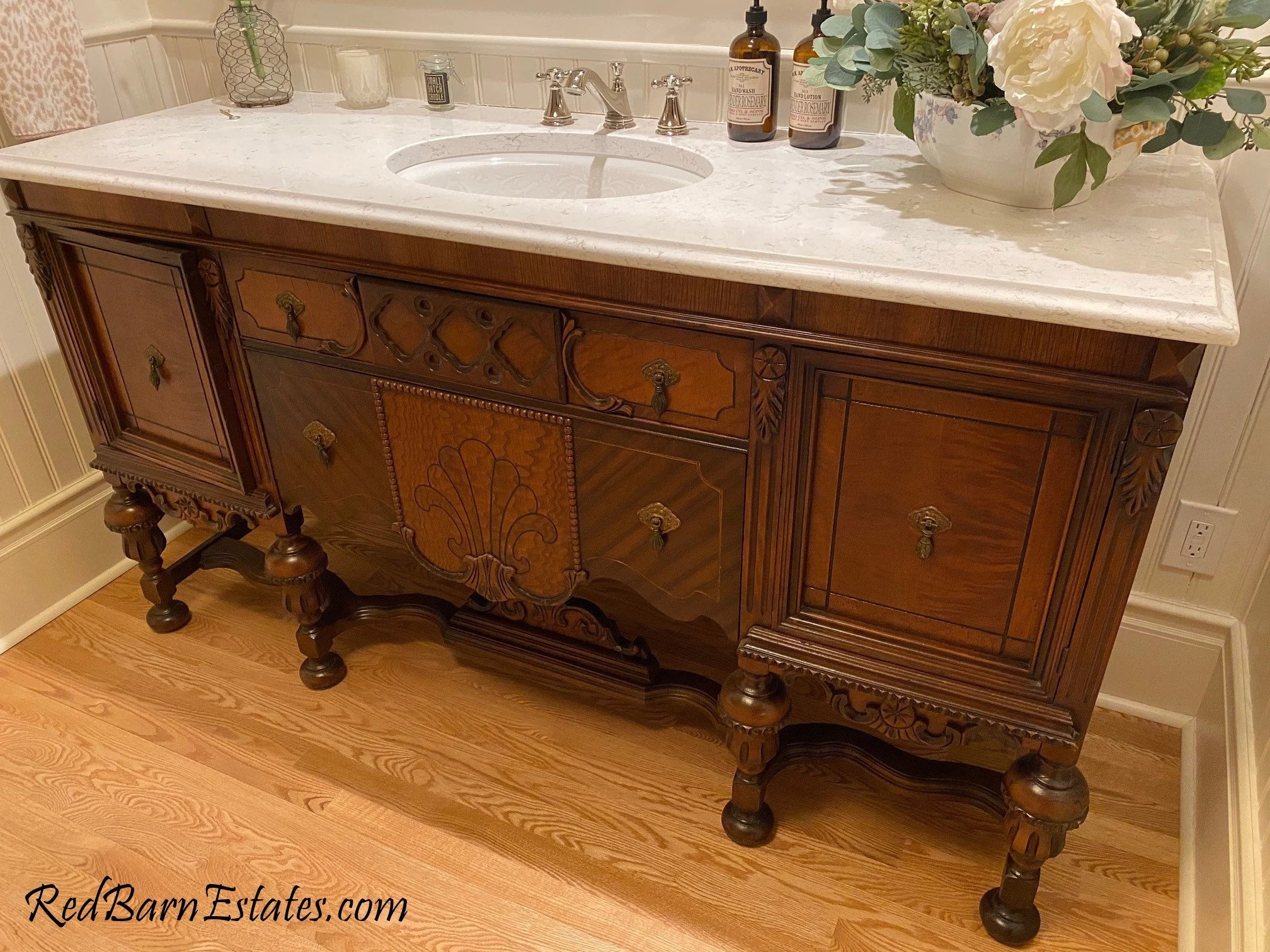 bathroom vanity antique we find convert from antique furniture wood finish renovation remodeling 61 to 66 wide