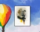 Printable abstract art, b...