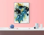 Turquoise Abstract Modern...