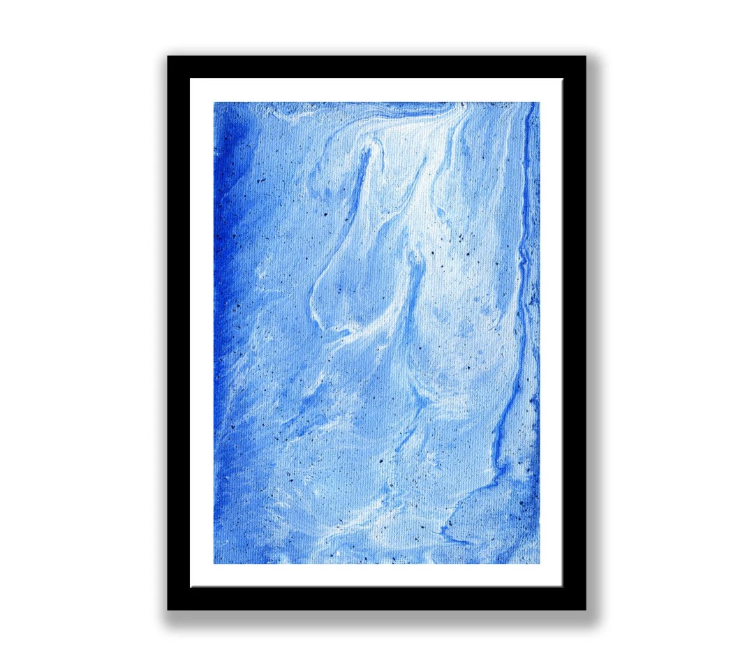 Blue marble abstract, pri...