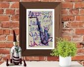 Printable art, Jazz saxop...