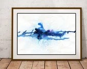 Large Blue artwork, abstr...