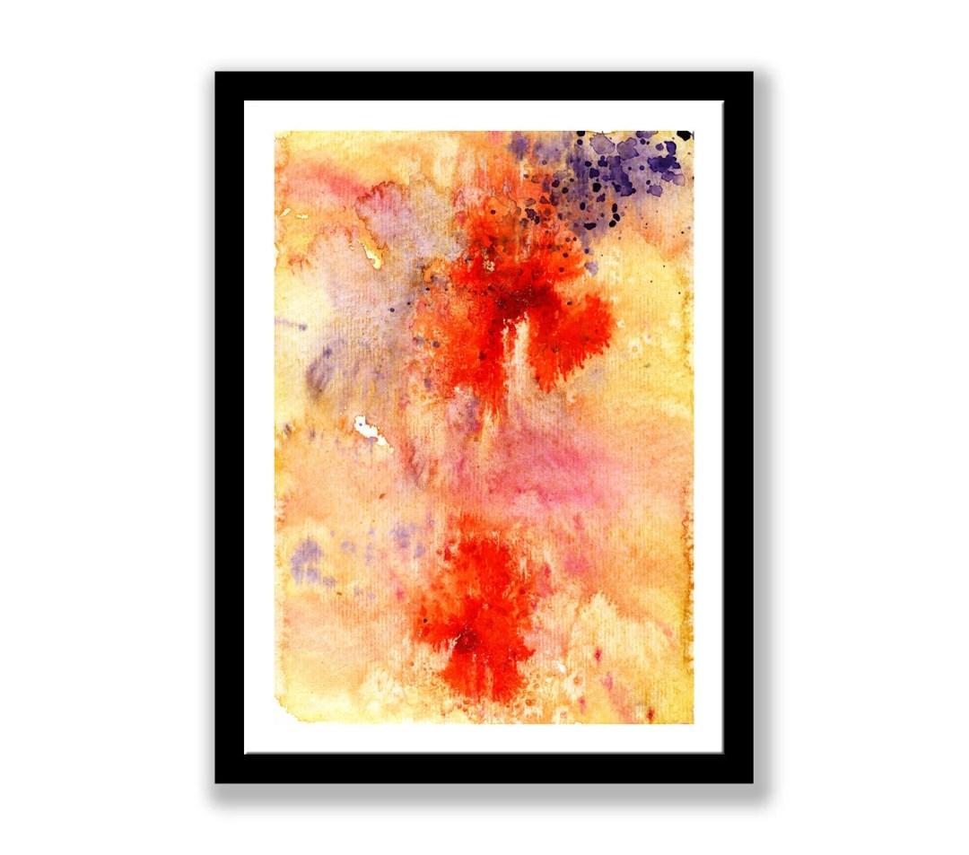 Purple and orange abstrac...