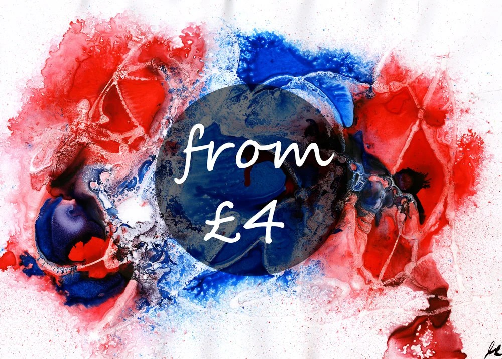 Abstract Red Blue print, ...