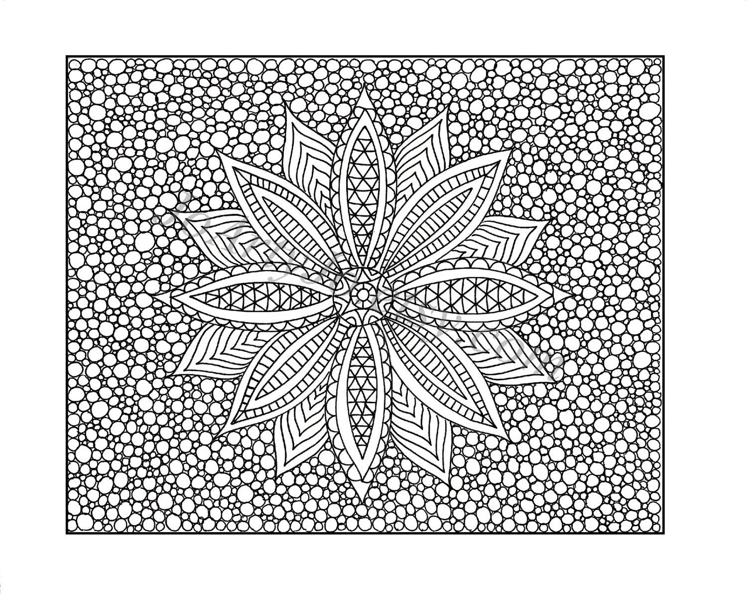 Zentangle Inspired Coloring Page Printable Zendoodle