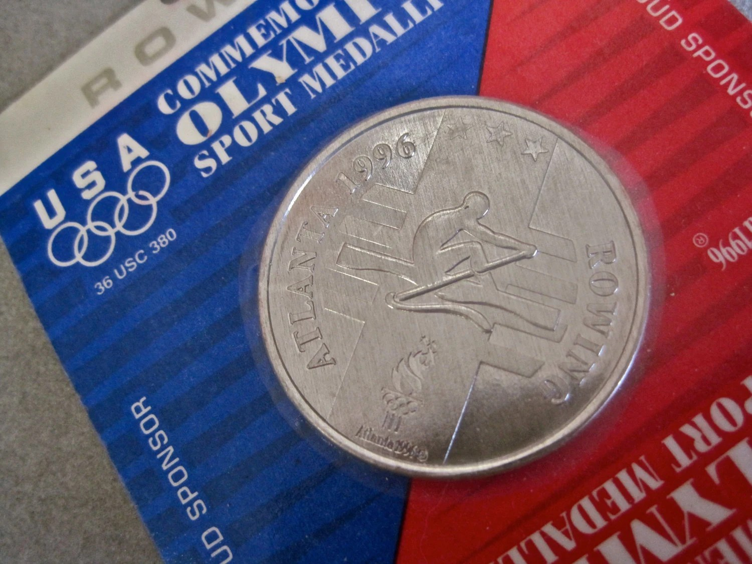 Olympics Rowing Medal Aluminum Coin General Mills