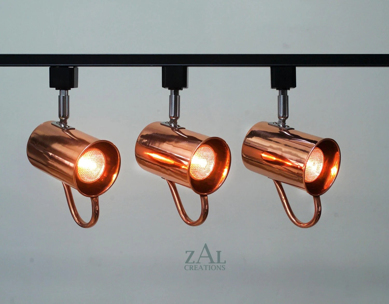 track lighting fixture copper mug moscow mule 3 track etsy