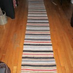 Vintage Farmhouse Hallway Runner Rag Rug 9 5 Feet Rural