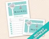 Bunco & Co. Bunco Theme Scorecard and Table Marker Set