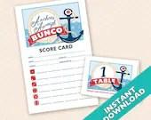 Anchors Aweigh Nautical Theme Bunco, Navy or Sailor Bunco