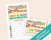 Cinco De Mayo Bunco Theme Scorecard and Table Marker Set