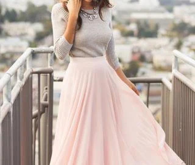 Chiffon Maxi Circle Skirt Bridesmaid Skirt Non Puffy Bridesmaid Maxi Skirt