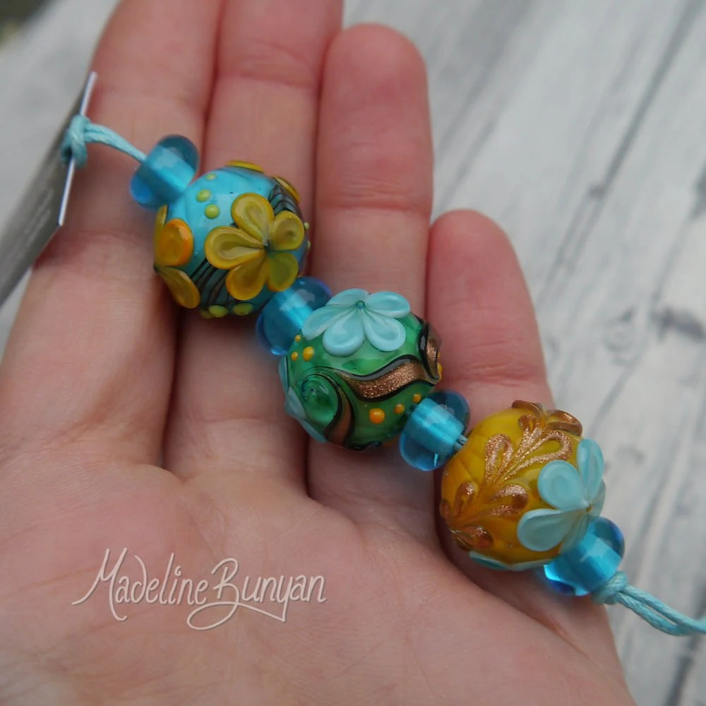 Yellow, Turquoise and Gre...