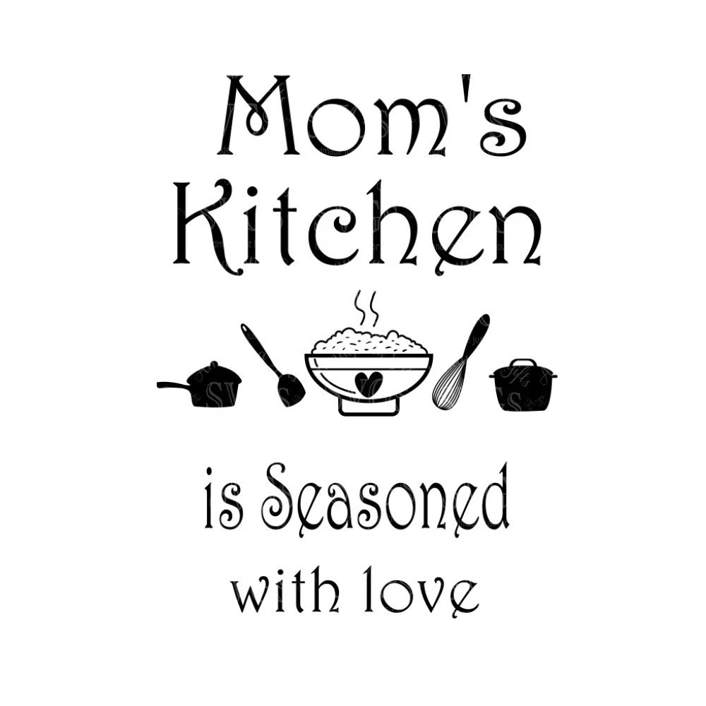Download SVG Moms Kitchen is Seasoned with Love Wall Art Kitchen   Etsy