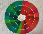 "Paint Chip Sample Strips - 2""x6.5"" - Set of 26 Strips - Red Green Christmas Colors - PA15"