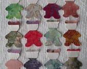 Teddy Bear Iron On Sew On Appliques Upcycled Modern Quilt Blocks Set of 12 AA68