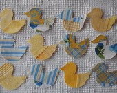Duck Iron On Sew On Appliques Upcycled Modern Quilt Blocks, Set of 12  AC09