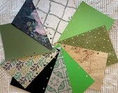 """Green DIY Junk Journal Kit - 5""""x7"""" - Everything to Create your Own - Pre-punched Covers & Pages, 5oz Embellishments, Binding Rings, JA12"""
