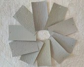 "Embossed Paint Chip Sample Bundle - 3x5.5"" - 10 Pieces- Light Gray - Cardmaking, Junk Journals, Collage, Mixed Media - PA21"