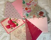 """Pink DIY Junk Journal Kit - 5""""x7"""" - Everything to Create your Own - Pre-punched Covers & Pages, 5oz Embellishments, Binding Rings, JA14"""
