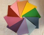 "Paint Chip Swatch Samples - 5""x7"" - Set of 10 Rainbow Colors - PA12"