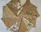 "Wallpaper Sample Bundle - 10 Pieces - 5""x7"" - Tan, Taupe Shades - Cardmaking, Junk Journals, Scrapbook, Mixed Media, Altered Art - PA39"