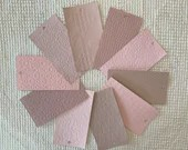 "Embossed Paint Chip Sample Bundle - 3x5.5"" - 10 Pieces- Dusty Rose. Pink - Cardmaking, Junk Journals, Collage, Mixed Media - PA20"