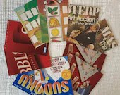 """Game Box Chipboard, Cardboard - 10 Pieces - 5""""x7"""" in Matched Pairs - Junk Journals, Mixed Media, Altered Art - EA10"""