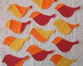 Bird IronOn SewOn Appliques Upcycled Modern Quilt Blocks, Set of 12 AB69
