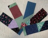 Junk Journal Tags Upcycled from Cutter Quilt Remnants & Paint Chip Samples AD08