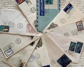 Bundle of 10 Vintage 1960s/70s Envelopes - United Nations First Day of Issue Stamps - Junk Journals, Scrapbooks, Ephemera, Collage - EA21