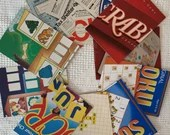 """Game Box Chipboard, Cardboard - 10 Pieces - 5""""x7"""" in Matched Pairs - Junk Journals, Mixed Media, Altered Art - EA11"""