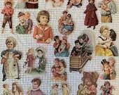Vintage Reproduction Victorian Scrap Cutouts - 21 Pieces - Junk Journals, Collage, Cardmaking, Mixed Media, Altered Art - EA15