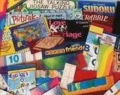 Bundle Game Box Cutouts Chipboard - 40 Pieces - Junk Journals, Scrapbook, Mixed Media, Altered Art - EA03