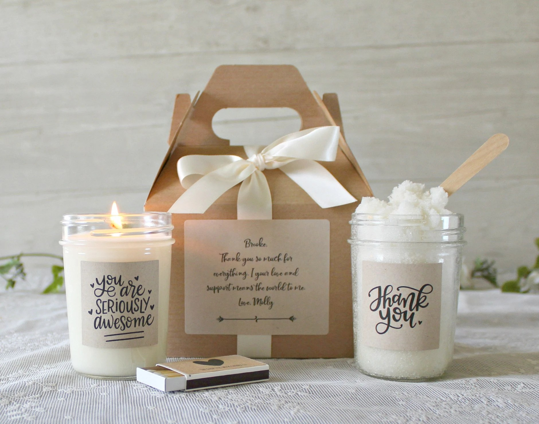 Custom Thank You Gift Box / Appreciation Gift / Spa Gift