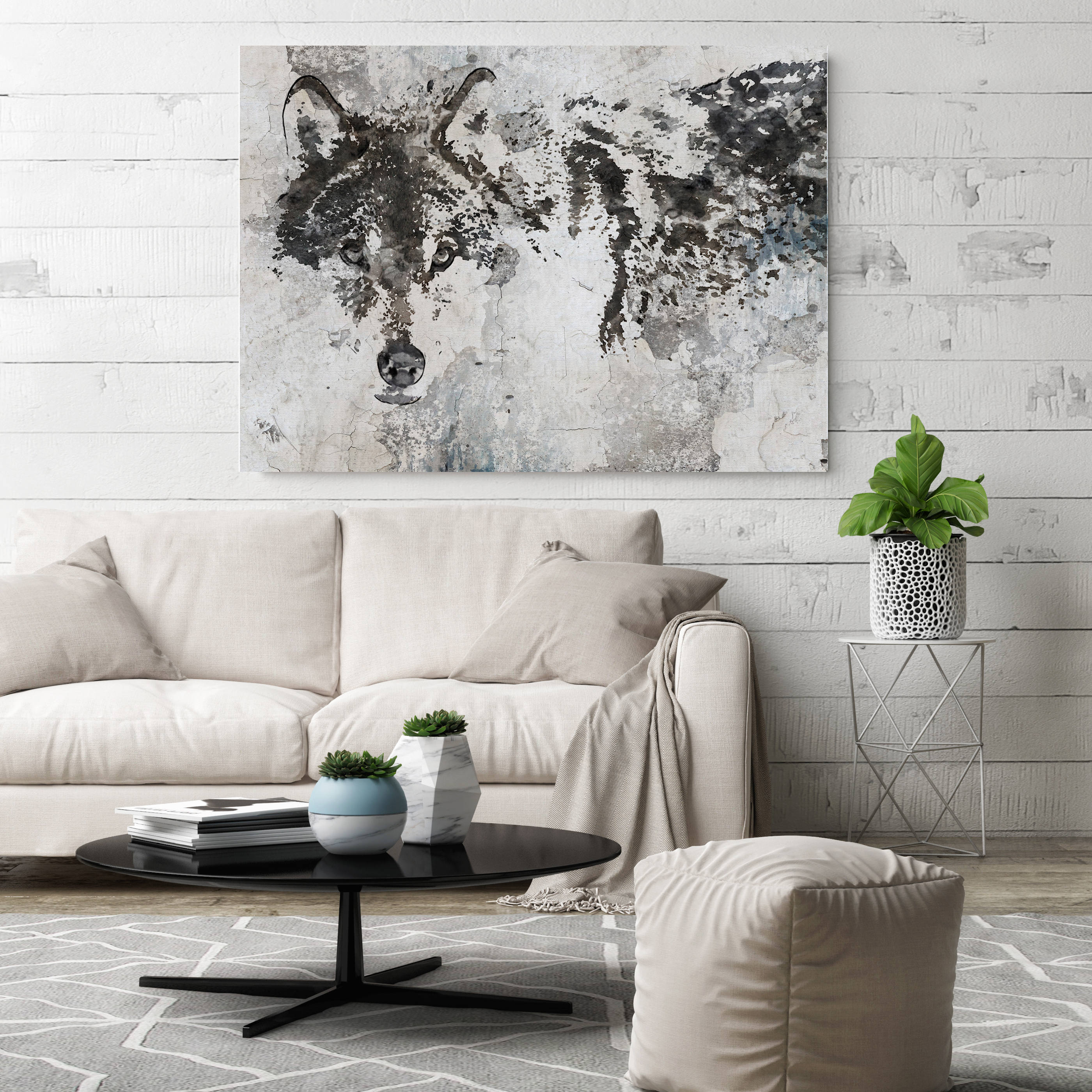 Wolf Canvas Art Wolf Canvas Painting Wolf Wall Art Wolf
