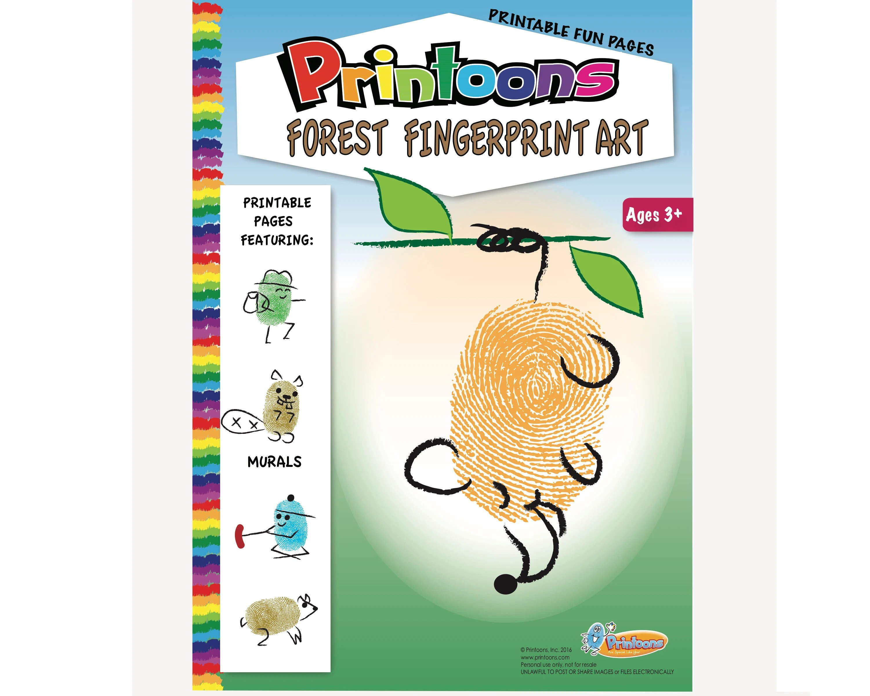Forest Thumbprint Art Forest Worksheets Forest Animal