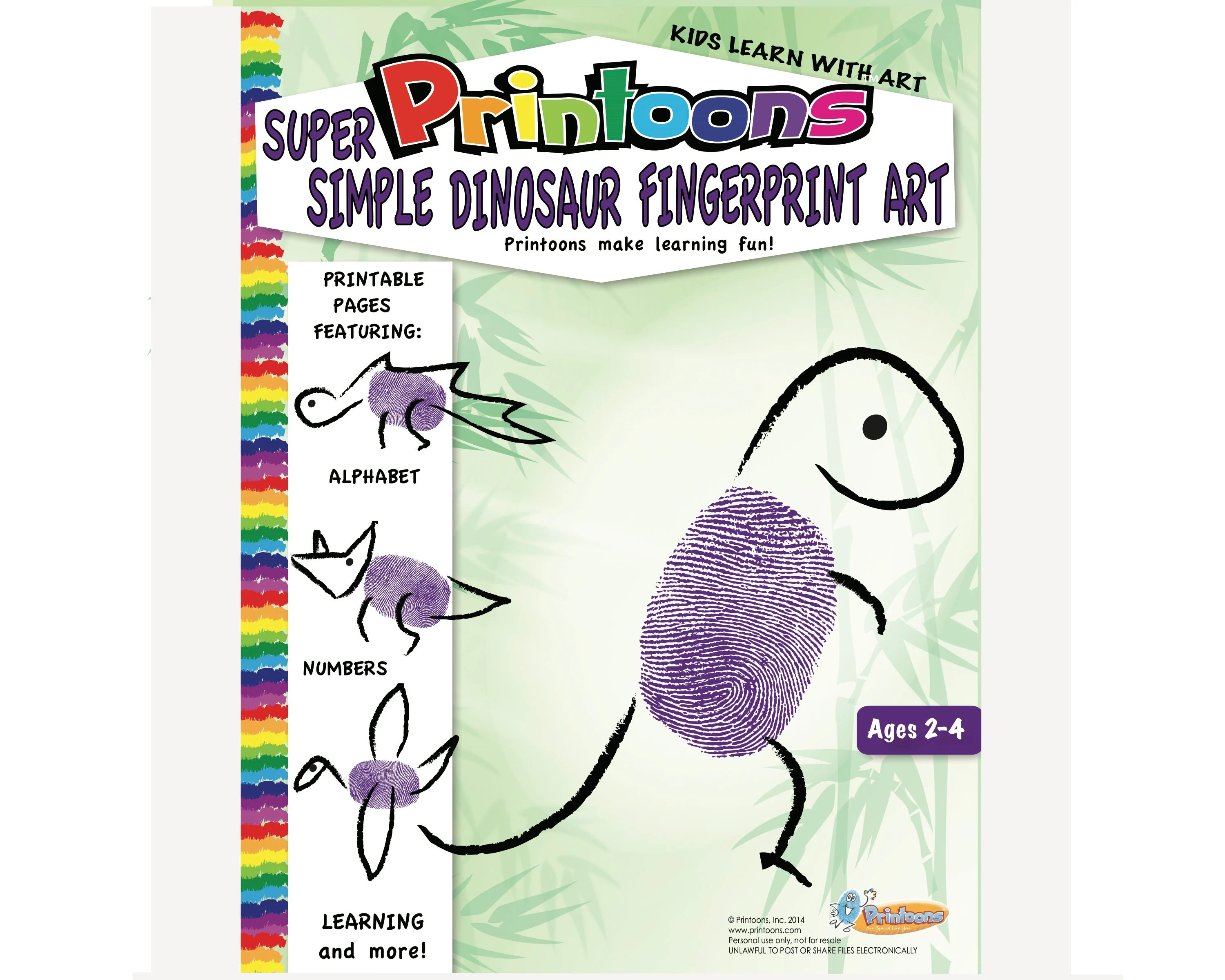 Dinosaur Learning Thumbprint Art Dinosaur Worksheets