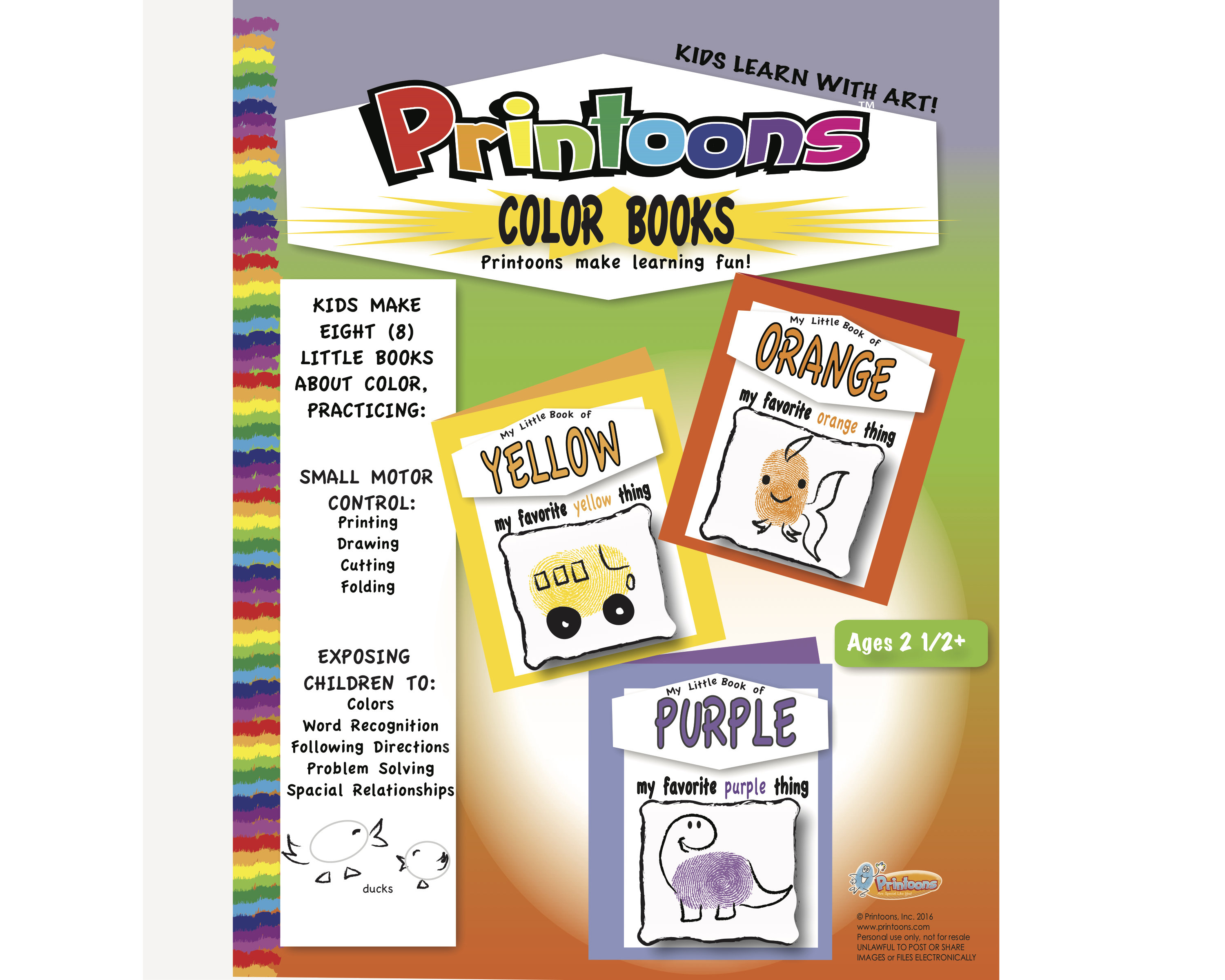 Color Books Thumbprint Art Learn Color Worksheets Learn